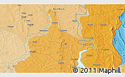 Political 3D Map of Gbandi