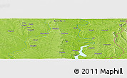 "Physical Panoramic Map of the area around 9° 4' 52"" N, 0° 4' 30"" E"