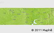 Physical Panoramic Map of Adibo