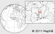 Blank Location Map of Agbanjaladé
