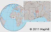 Gray Location Map of Agbanjaladé