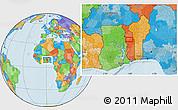 Political Location Map of Agbanjaladé