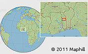 Savanna Style Location Map of Agbanjaladé