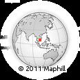 Outline Map of Cà Mau, rectangular outline