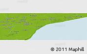Physical Panoramic Map of Bạc Liêu