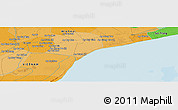 Political Panoramic Map of Bạc Liêu