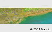 Satellite Panoramic Map of Bạc Liêu