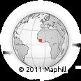 Outline Map of Kissidougou, rectangular outline