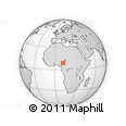 Outline Map of Jalingo, rectangular outline