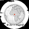 Outline Map of Adamawa, rectangular outline