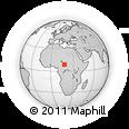 Outline Map of Koumra, rectangular outline