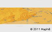 Political Panoramic Map of Koumra