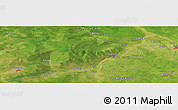 Satellite Panoramic Map of Koumra