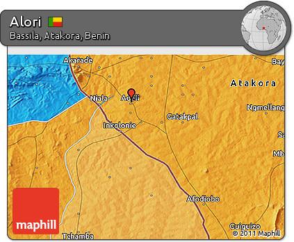 Political 3D Map of Alori