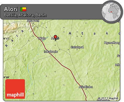 Physical Map of Alori