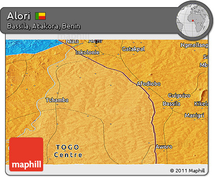 Political Panoramic Map of Alori