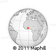 Outline Map of Sawla, rectangular outline