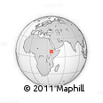 Outline Map of Hāgere Hiywet, rectangular outline