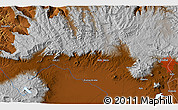"""Physical 3D Map of the area around 9°4'52""""N,38°19'30""""E"""