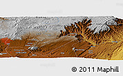"""Physical Panoramic Map of the area around 9°4'52""""N,39°10'29""""E"""