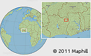 Savanna Style Location Map of Bouna