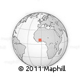Outline Map of Bouna, rectangular outline