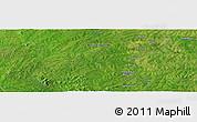 Satellite Panoramic Map of Bouna