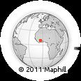 Outline Map of Badikaha, rectangular outline