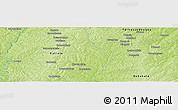 Physical Panoramic Map of Badikaha
