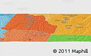 Political Panoramic Map of Badikaha