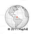 """Outline Map of the Area around 9° 4' 52"""" N, 61° 58' 30"""" W, rectangular outline"""