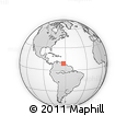"""Outline Map of the Area around 9° 4' 52"""" N, 62° 49' 30"""" W, rectangular outline"""