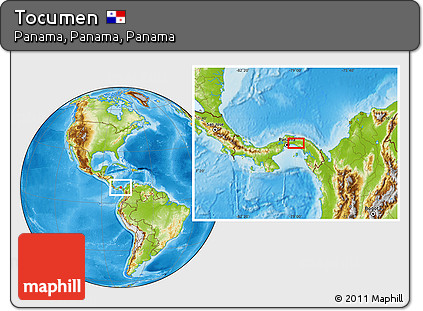 Physical Location Map of Tocumen