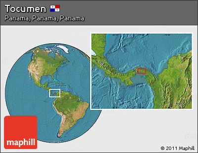 Satellite Location Map of Tocumen