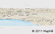 Shaded Relief Panoramic Map of Tocumen