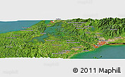 Satellite Panoramic Map of Rincón Tapia