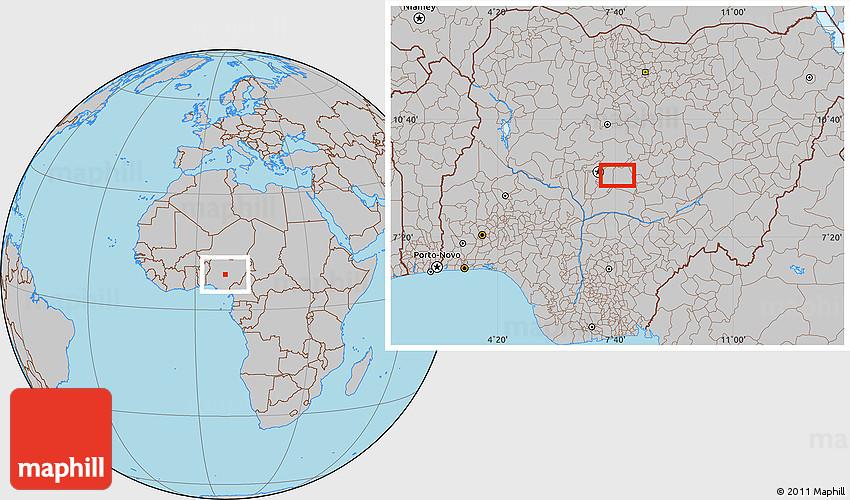 Gray Location Map of Karshi