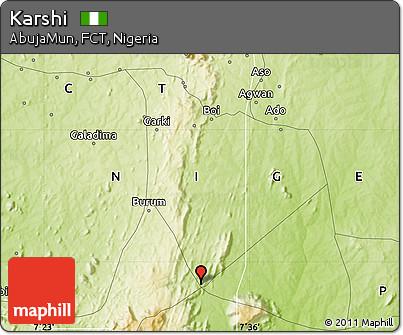 Free Physical Map of Karshi