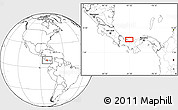 """Blank Location Map of the area around 9°4'52""""N,81°31'30""""W"""
