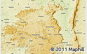Physical Map of Kérouané