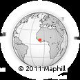 Outline Map of Kérouané, rectangular outline