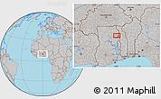 Gray Location Map of Gbungbalaga