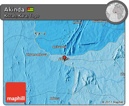 Political 3D Map of Akinda
