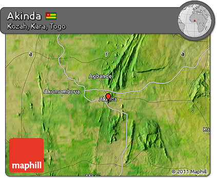 Satellite Map of Akinda