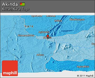 Political Panoramic Map of Akinda