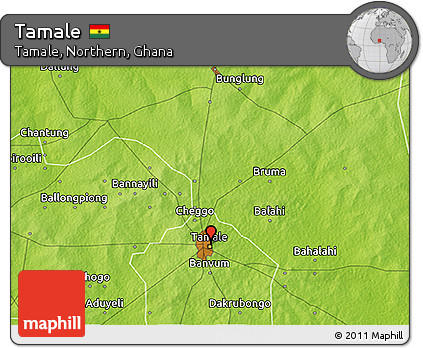 Free Physical 3D Map of Tamale