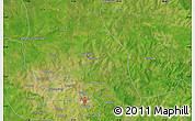 """Satellite Map of the area around 9°36'8""""N,0°46'30""""W"""