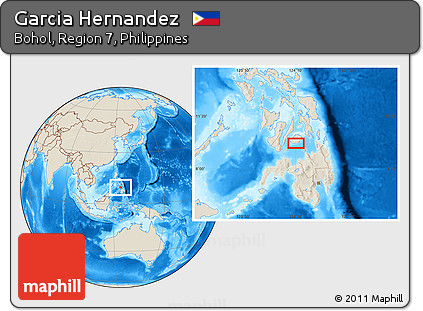 Free Shaded Relief Location Map of Garcia Hernandez on