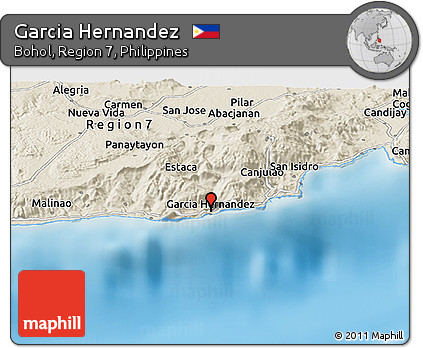 Free Shaded Relief Panoramic Map of Garcia Hernandez on