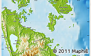 Physical Map of Surigao